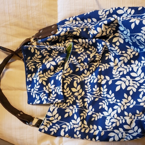 Marshalls Handbags - Navy Floral Purse with Matching Wallet